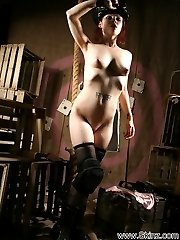 Opia burns up the set in this totally nude shoot!