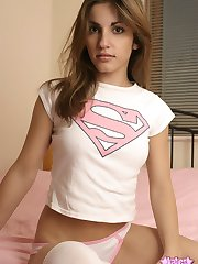 Kates sexy perky girlfriend Stephanie shows off her tight body as she strips out of her super...