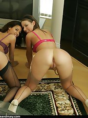 We love to tease in our stockings