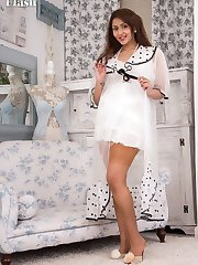 Mahina is new to vintage and retro so love the thrill of a vintage open bottom girdle and real nylons all the more!