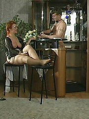 Redhead mature babe melting in the heat of cock-thrusting in her fiery muff