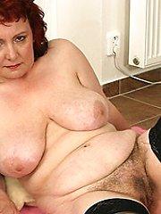 This chunky mama really needs a hard cock