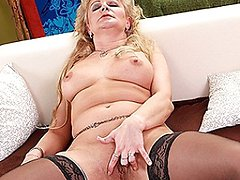 Naughty blonde housewife getting wet and wild
