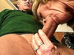 Horny blonde gets her pussy stuffed with cock