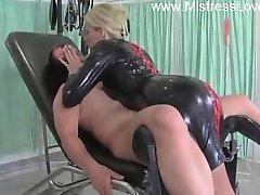 latex domina milking slave