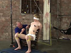 Dirty old cum thief Sebastian Kane pegs the horny young dude