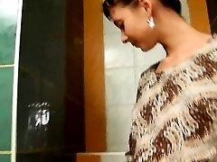 Amazingly rawboned cute girl on toilet