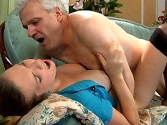 Hot girl lets a horny daddy play her sub worshipping every inch of her body