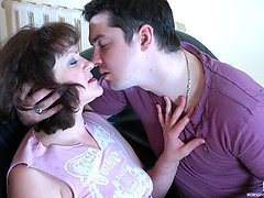 Crummy mature chick approaching a well-hung guy for sizzling butt-banging