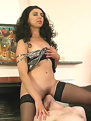 Dressed to kill milf making a drunk service man go after her mature pussy