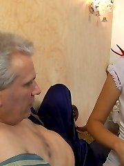 Naughty young nurse cures her old patient with muff-diving and cock-riding