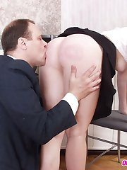 Young flexigirl gets seduced by her aged teacher