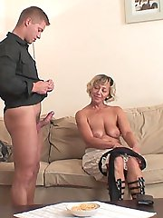 Mature slut seduces her son in law and fucks him until the hot wife comes home pissed off