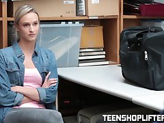 Teen Emma Hixx caught shoplifting and getting her punishment