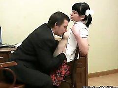 Sexy young schoolgirl screwed by her teacher