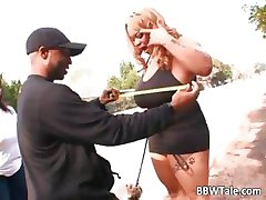 Big breasted ebony slut enjoys part1