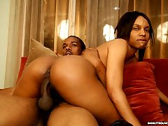 Hot black ho gets her fat ass fucked