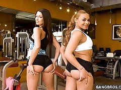 These two asses perfect workout, they are teasing my buddy by walking their asses infront of him.
