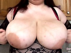 British bbw Madison Blush playing with her massive 40L boobs