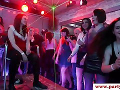 Cocksucking euro babe doggystyled at party