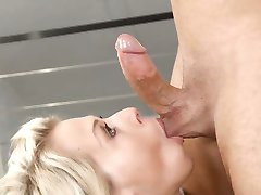 Wam blonde deep throats