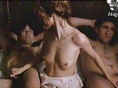 Stefania Casini Gerard Depardieu Robert De Niro in Novecento