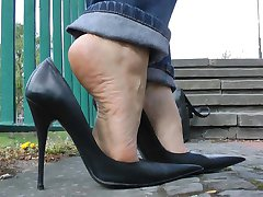 Ultimate Leather Heels Stilettos Shoes Cuir Leder