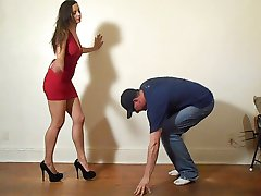 Ballbusting - Red Dress Babe