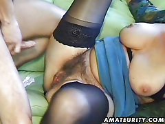 Old amateur mature wife sucks and fucks
