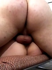 Fucking her pussy and creaming her big titties
