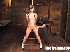 Alaina Dawson in a hot, shaved nineteen year old submissive that just wants to be tied, whipped...