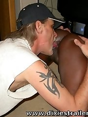 A BLACK slut gets a HUGE FACIAL