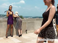 Perky blonde slave girl Alexa Wilds first time on Public Disgrace! This gorgeous slut was hand...