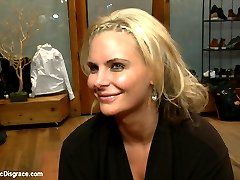 Lead out in public with a sensory deprivation box on her head, Phoenix Marie is made to strip,...