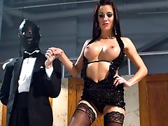 Gia Dimarco is officially inducted into Bitchdom and given slave DJ as a present for the day. A...