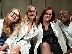 3 sadistic lesbian scientists are delighted when a new specimen is admitted to the psych ward....
