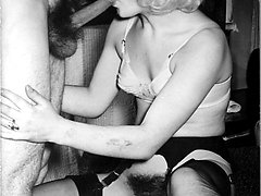 Its sex in nylons and garters for the kinky 1960s crew!