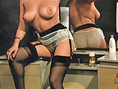 Stunning retro babes naked