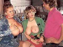 Retro ladies with mega tits