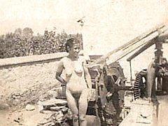 Outdoor vintage ladies nude