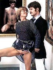 Seventies couple having sex