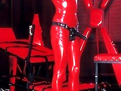 Latex slut in red
