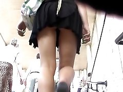 Upskirts candid view got on my hidden cam