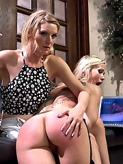 Mona Wales surfs the internet for some hot gangbang porn to jack off to. Low and behold she...