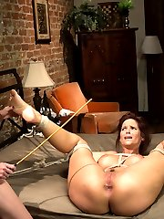 Welcome smoking hot MILF, Syren De Mer to Whipped Ass and welcome back the knock out redhead...
