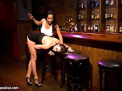 Welcome back the drop dead gorgeous Chanel Preston to Whipped Ass. In this fantasy roleplay Chanel plays a sexy hooker stumbling into the wrong bar where bar owner Isis Love serves her more then drinks. Chanel gets her fill of lesbian BDSM kinky sex and punishment in the form of bondage, anal sex,boot licking, wax play, pussy licking, whipping and torture!