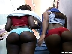 These super hot ebony babes are training their phat asses in the boxing ring in these super hot...