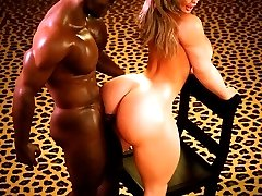 Enjoy gorgeous girl with amazingly big boobs and ass fucking some nice muscled guy!