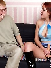 Outrageous strap-on fucking with sizzling hot chick and sex-addicted guy