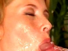 Amateur chick sucking cock and getting cummed in a swinger club